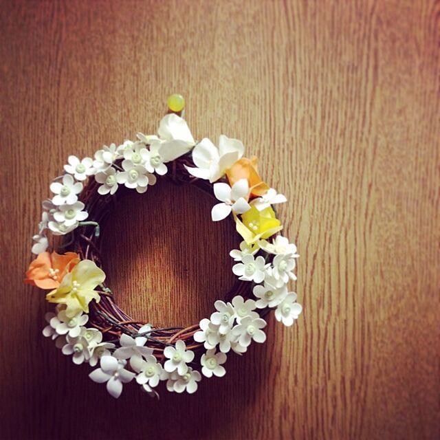 Bathroom,手作り,雑貨,リース,花は紙粘土 muの部屋