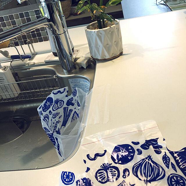 これ便利♡♡,水切りゴミ袋,ダイソー♡,新商品買ったよ!,6人家族,子供4人,いつもありがとう(*´ー`*),Kitchen rugby_mamaの部屋