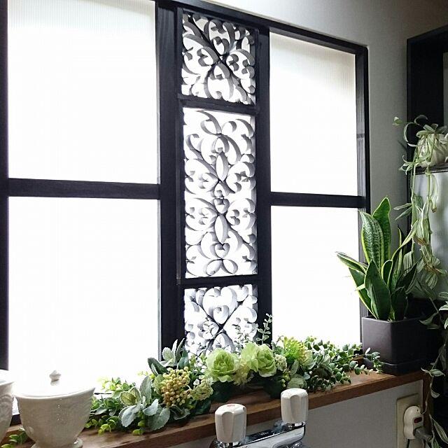 Overview,デコ窓,トイレットペーパーの芯,YKKap Rudyの部屋