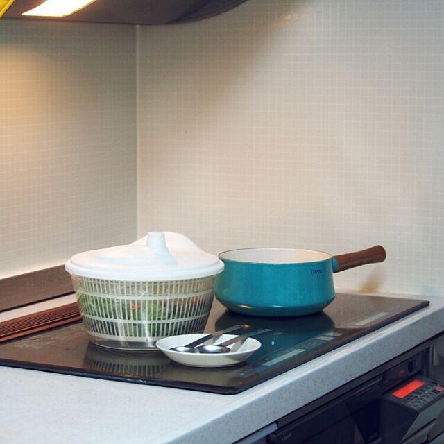 Kitchen,ダンスクお鍋,サラダスピナー,IKEA,イケア,シンプルライフ,料理中,整理整頓 Aoiの部屋
