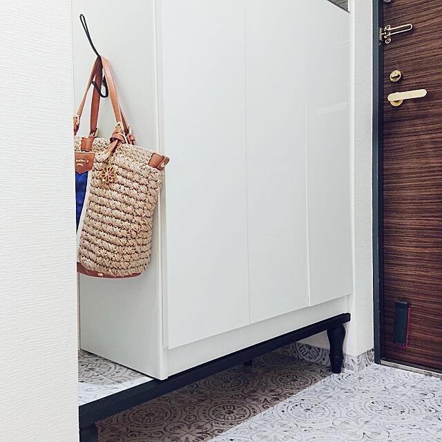Entrance,掃除,隙間,かばん掛け,IKEA アイアンフック,模様替え中,マンションの玄関,狭い玄関,玄関の模様替えまとめ【ru】 ruの部屋