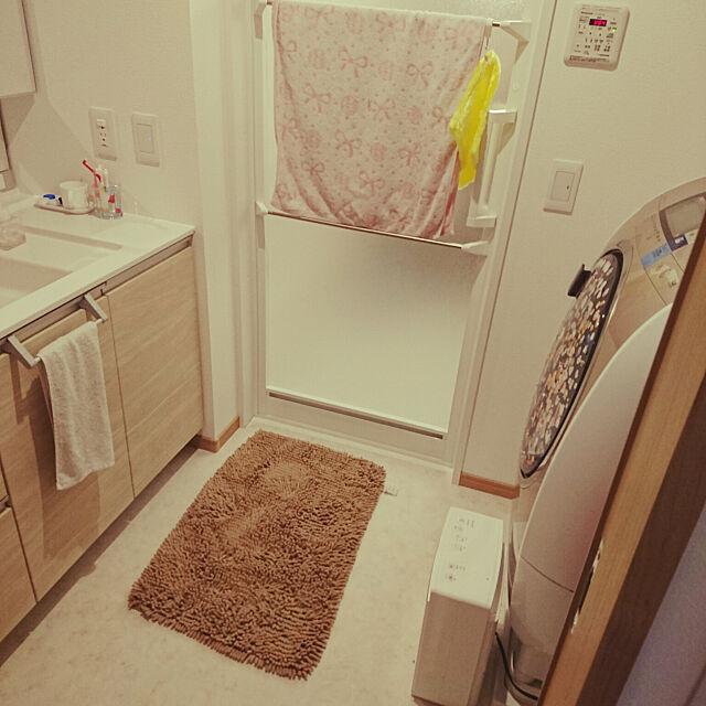 Bathroom,しんぷるにしたい,ニトリ,収納,整理整頓,シンプルな暮らし,足拭きマット,バスマット naoの部屋