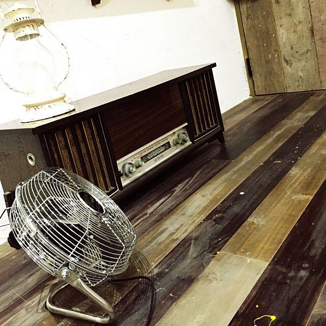 Lounge,サーキュレーター,DULTON,家電,インダストリアル,男前,レトロ雑貨,しっくい,レコードプレイヤー chickenheartの部屋