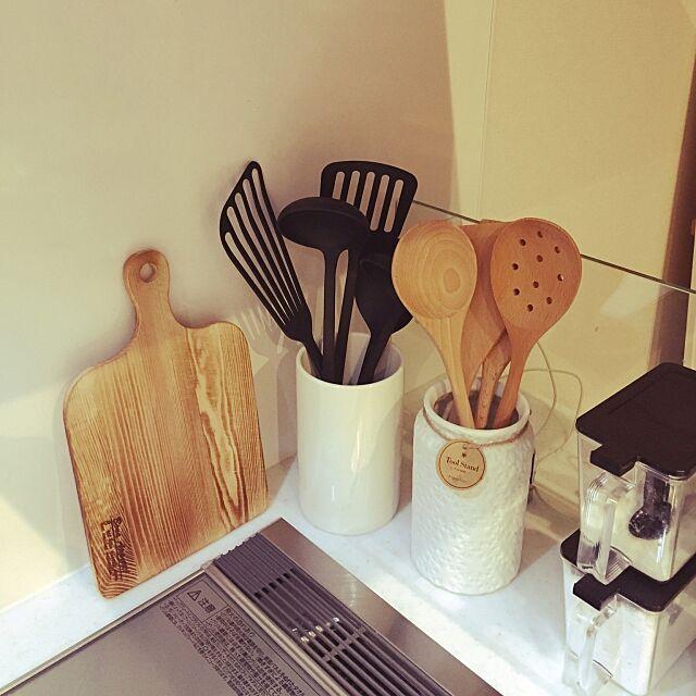 Kitchen,無印良品,ニトリ,ツールスタンド,キッチンツール,3Coins anj.cafeの部屋