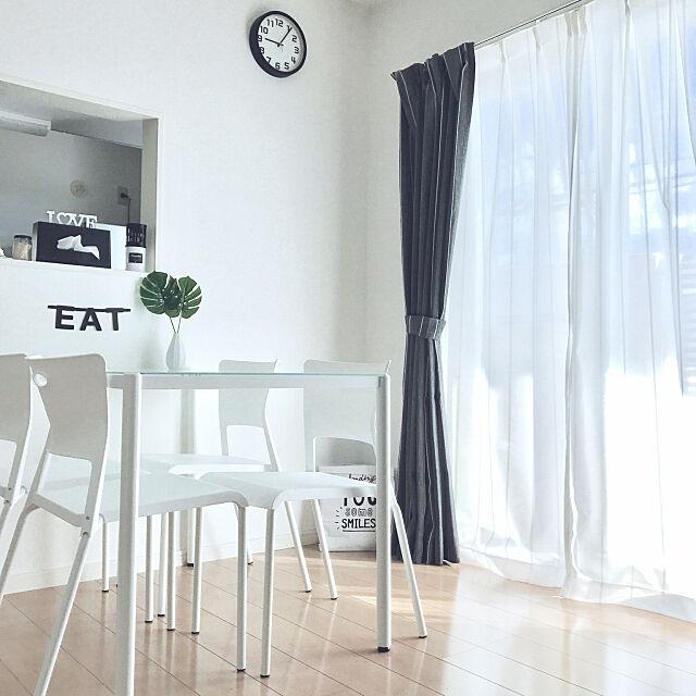 Overview,いいね&フォローありがとうございます,ダイソーのフェイクグリーン,スミシアインテリア,スミシア,モノトーン,モノトーン好き,シンプル,シンプルが好き,シンプルライフ,ガラステーブル,ダイソー,フェイクグリーン,ワードバナー,ニトリ,イオンのカーテン ERIKAの部屋