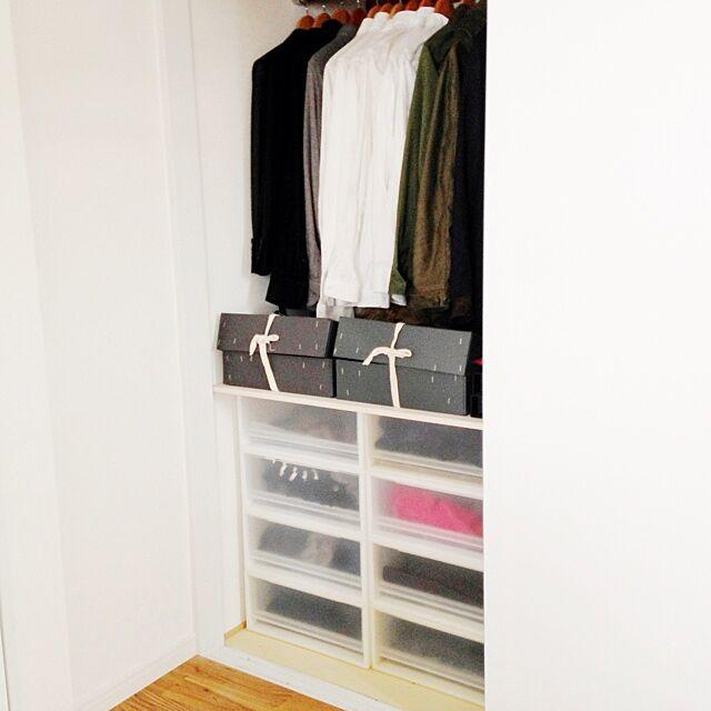 My Shelf,同じものを並べたい,収納BOX,クローゼットの中,収納 Atsushiの部屋