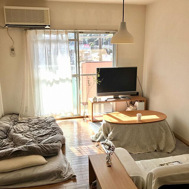Overview,こたつ,賃貸,無印良品,ナチュラル,一人暮らし,シンプル,布団,男部屋 oikskの部屋