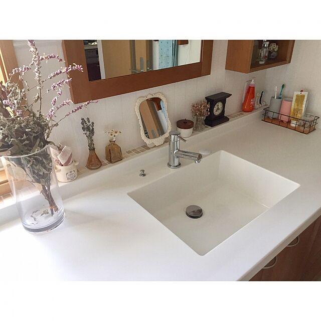 Bathroom,洗面所 棚,洗面台周り,アンティーク風,ナチュラル,くつろぎ空間 Mongkolの部屋