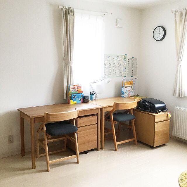 My Desk,男の子2人,学習机,イートコ,無印良品,無印,シンプルな暮らし,北欧,持たない暮らし,シンプルインテリア,リビング,リビング学習 yousouの部屋