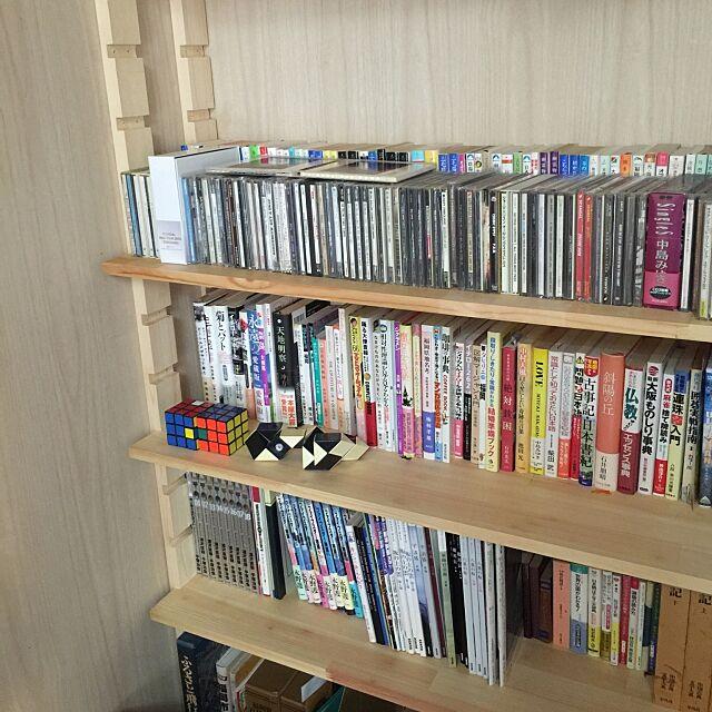 収納,クローゼット,DIYって程ではない,CD 本 収納,My Shelf shirokinaの部屋
