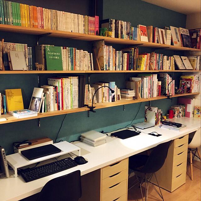 IKEA,勉強机DIY ,壁面収納棚,こどもと暮らす Mioの部屋
