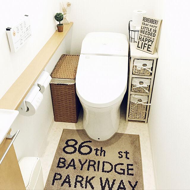 Bathroom,セリア,タンクレストイレ,TOTOトイレ punknの部屋
