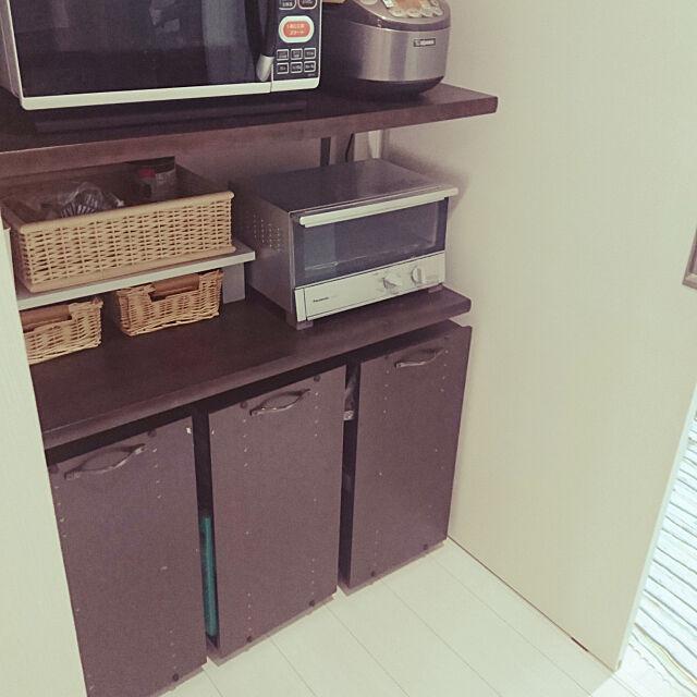 Kitchen,ニトリ,モノトーン,10分でできる,収納,DIY,カラーボックス DIY tmaaの部屋