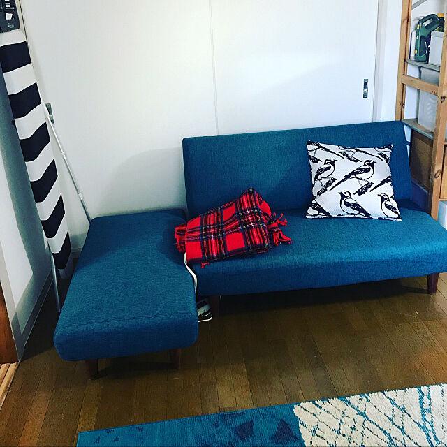ニトリ,ソファーベッド,1LDK 1人暮らし,ニトリソファー,Lounge nakachikaの部屋