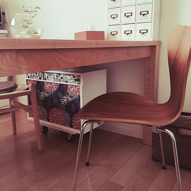 My Shelf,デコパージュ,マリメッコペーパーナプキン,米袋隠し♡,ワゴン,DIY,ニトリ,北欧 harusaraの部屋