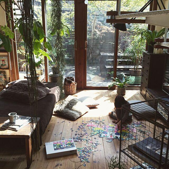 Lounge,ジグソーパズル,NO GREEN NO LIFE,いなざうるす屋さん,niko and… ,いなざうるす屋さんニコアンド,IKEA,LATTJO,こどもと暮らす。 yururi-8239223の部屋