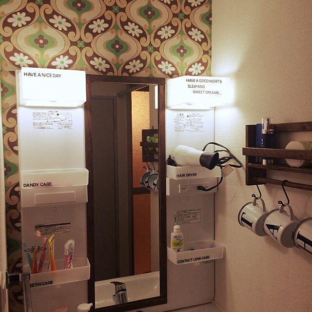 Bathroom,洗面台,DIY超初心者,カフェ風インテリアを目指して ayaka.tの部屋