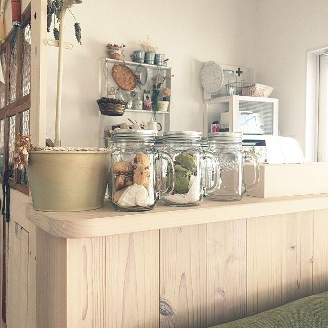 My Shelf,DIY,手作り,セリア,decole,メイソンジャー風,かご,ダイソー,ブリキ yunyaの部屋