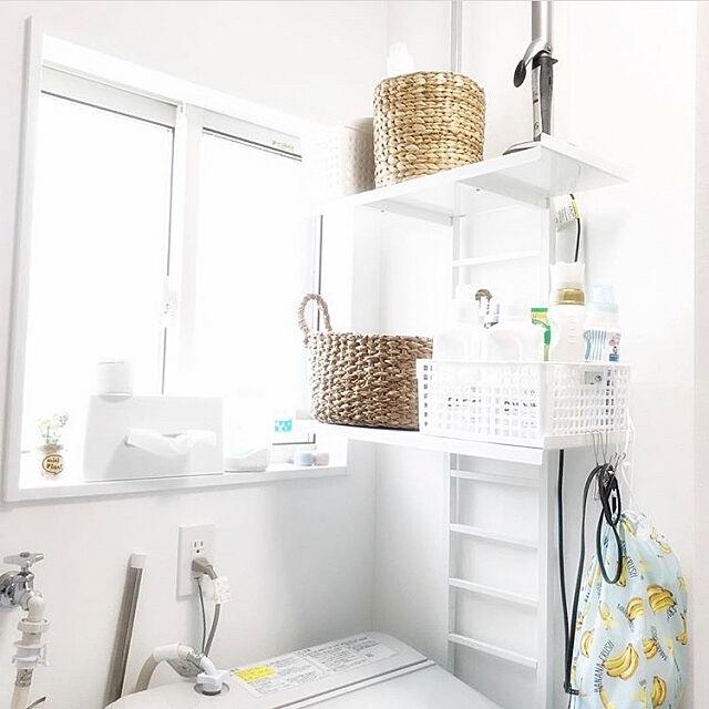 Bathroom,洗面所インテリア,ランドリーラック,脱衣所収納,バスルームインテリア,ダイソー,ニトリ soumamaの部屋