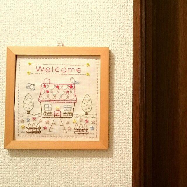 On Walls,ハンドメイド,手芸,刺繍,かわいい,シンプル,ホビーラホビーレ gomacoの部屋