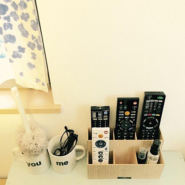 Lounge,マグカップ,めがね,無印,無印良品,リモコン置き場,リモコンスタンド,リモコン入れ,リモコン収納,リモコン,収納 ryoの部屋