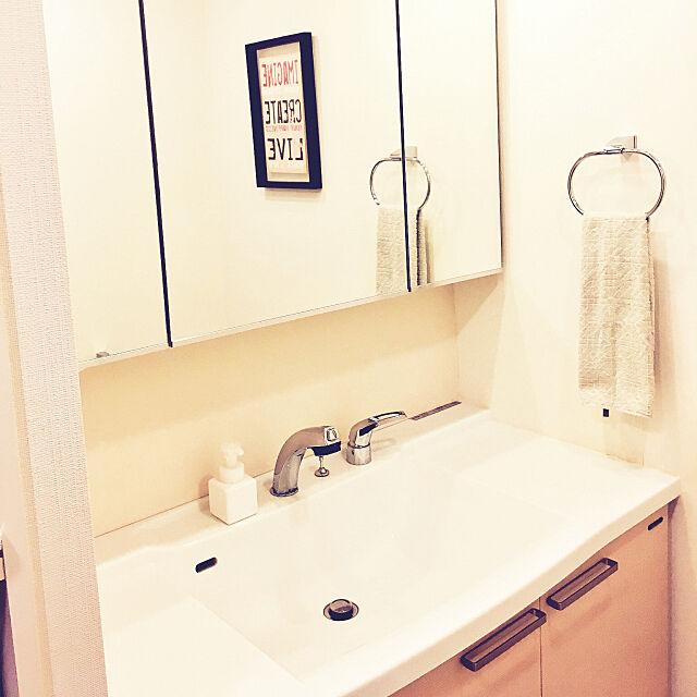 On Walls,無印良品,原状回復,洗面所の鏡,家事を楽に,カラーボード,リメイクシート,水はね防止,家事,DIY,100均,ダイソー,すっきり暮らしたい j1r0oの部屋
