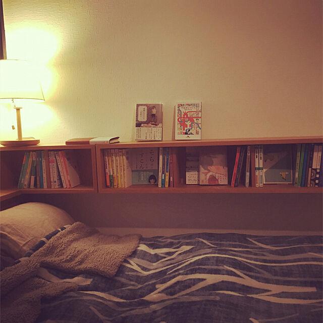 本棚,無印良品,Bedroom mitsの部屋