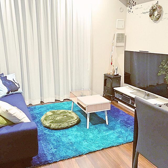 Lounge,ラグ,ソファー,blue,青,久しぶりのRC,模様替え Remiy_roomの部屋