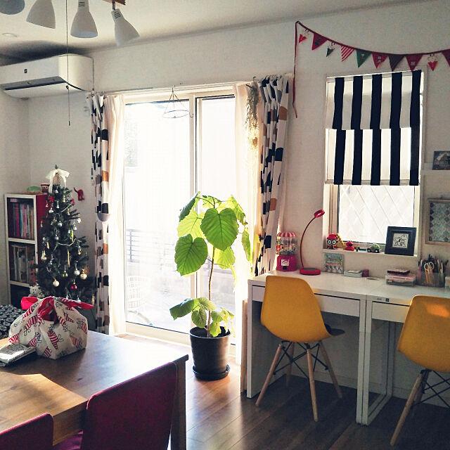 On Walls,リサ・ラーソンの風呂敷,クリスマス,カラフルな部屋,柄,ツリー出しました!,狭くても楽しむ❤,ファブリック,片付けをやめた,ウンベラータ,空間アレンジ,門松 peachnutの部屋