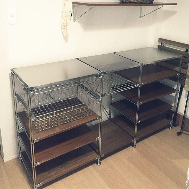 Kitchen,ステンレスユニットシェルフ,中古戸建て,無印良品,ユニットシェルフ YUKAの部屋
