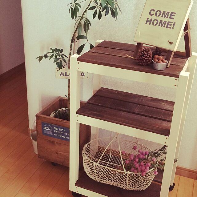 キッチンワゴン,ユーカリドライ,Come home!,千日紅ドライ,DIY,Entrance seven.の部屋