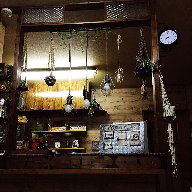 Lounge,ダルトン風,ハンドメイド万年カレンダー,壁紙,いつもありがとうございます,ミンネ,DIY棚,ハンドメイド,ホームセンター,RC富山支部,妄想作品,男前?かな,プラハン,フェイクグリーン,自己満足,アサヒモ,自作タグ,綿ロープ,リアルグリーン,セリア,なんちゃってペンダントライト dddhhhの部屋
