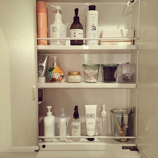 My Shelf,洗面所の鏡裏,脱衣所&洗面所&ランドリー,収納棚 furikurirennziの部屋