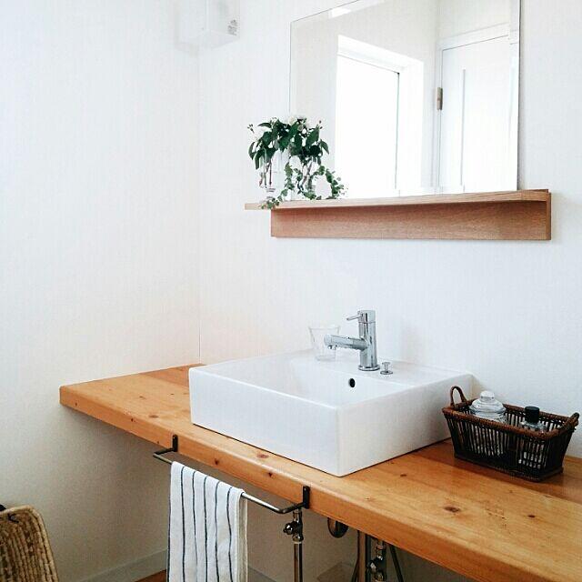 Bathroom,シンプル,北欧インテリア,緑のある暮らし,植物,北欧,IKEA,洗面所,無印良品 kuuの部屋