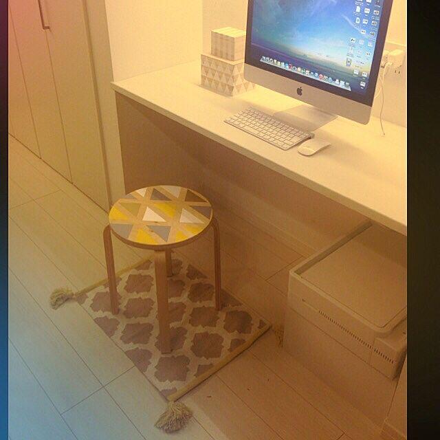 My Desk,FROSTA ,ジオメトリック,iMac,DIY,IKEA MATYの部屋