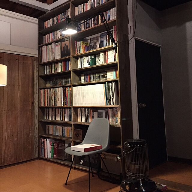 My Shelf,アームライト,コトブキシェルチェア,読書,本棚DIY,DIY,築40年リノベーション。 inakasochi_djangoの部屋