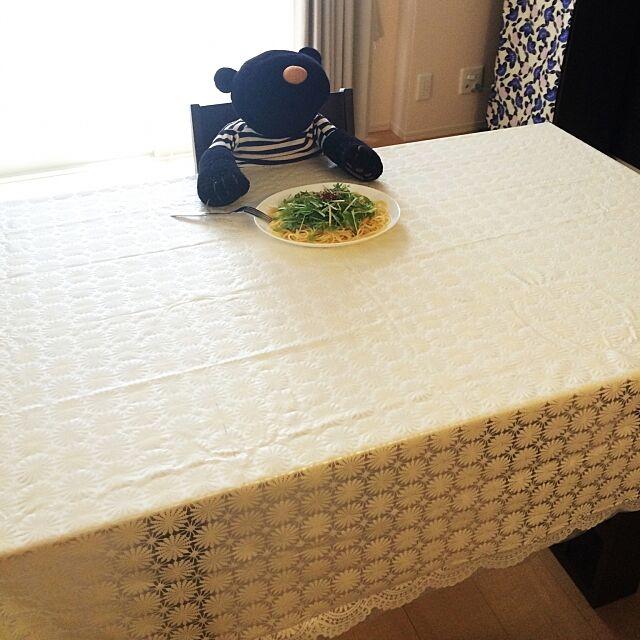 My Desk,パスタ,テーブルクロス,ニトリ♡ maitake.h.Rの部屋