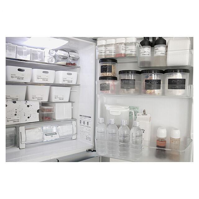 Kitchen,収納見直し,収納,冷蔵庫収納,モノトーン,マイホーム r.y0323__homeの部屋