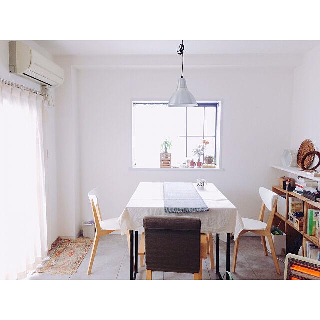 Overview,IKEA,ダイニング,ダイニングテーブル,出窓,賃貸,床DIY,ふたり暮らし,モルタル風 Mikiの部屋