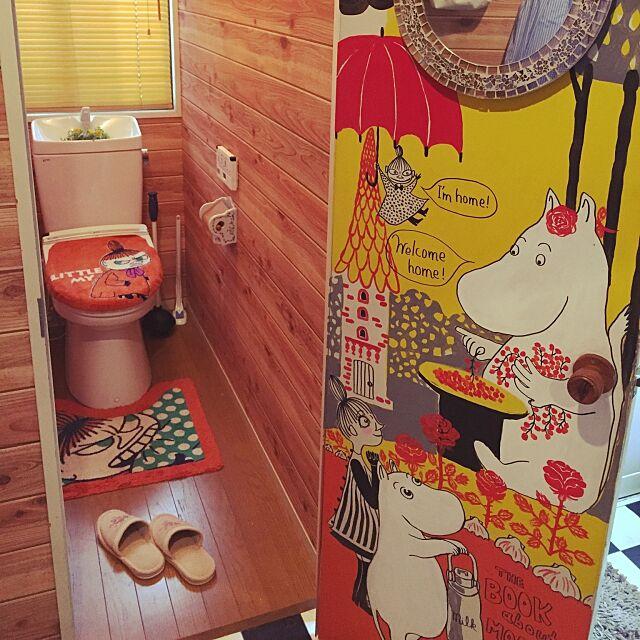 Bathroom,ハンドメイド,北欧,ムーミン,手描き Rieの部屋