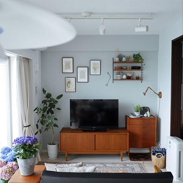 ミックスインテリア,暮らしを楽しむ,植物のある暮らし,こどものいる暮らし,詳細はigで☻,北欧,カリモク60,北欧インテリア,マンションインテリア,中古マンション,ストリングポケット,Lounge as_noteの部屋