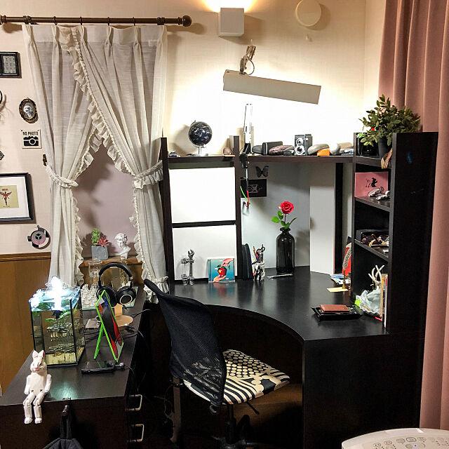 My Desk,水槽,アクアリウム,水槽のある部屋,ディスプレイ,IKEA,サイドデスク,フェイクグリーン,趣味,オブジェ,アート,いいね!ありがとうございます♪,フォロワーさん募集中です,スタンドミラー,デスク周り,コーナーデスク Tomの部屋