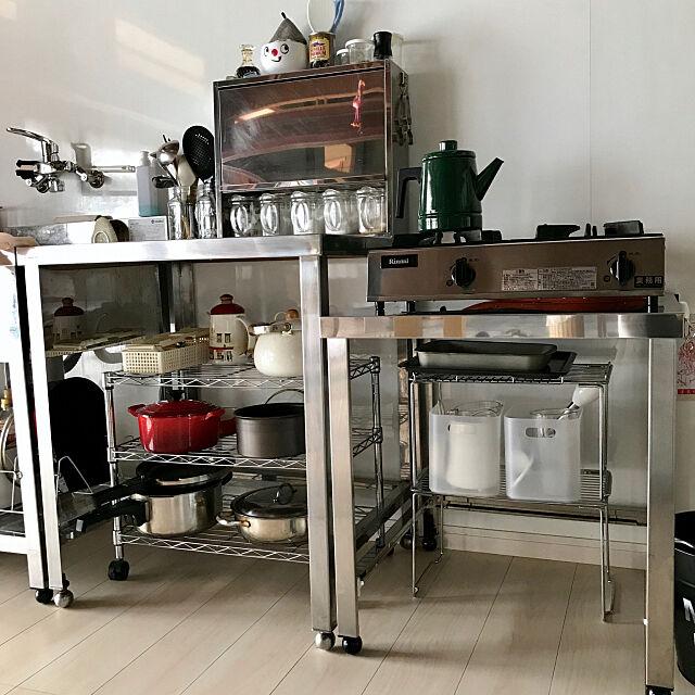 Kitchen,業務用キッチン,リノベーション,古民家リノベーション,無印良品,古民家,業務用ガスコンロ tsuyumiの部屋