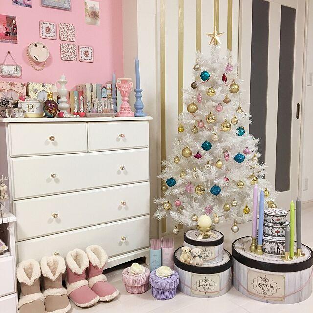 キャンドル,ニトリ,ホワイトツリー,フライングタイガー,クリスマス,ガーリー,フランフラン,JILL STUART,アルバム,ピンクの壁,ピンク,My Shelf konomiの部屋