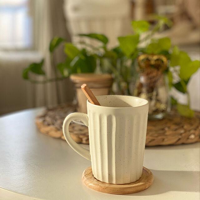 おうちカフェ,マグカップ,100均,ナチュラル,BOHO,ダイソー,カフェ風,My Desk,韓国インテリア eri.roomの部屋