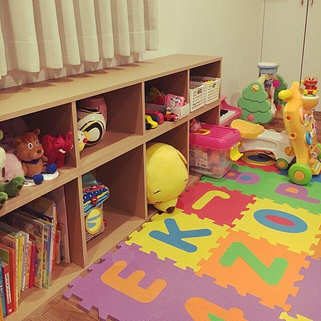 Lounge,seria,おもちゃ収納,パルプボードボックス,無印良品,こどもと暮らす,中古物件,無垢の床 yu..の部屋