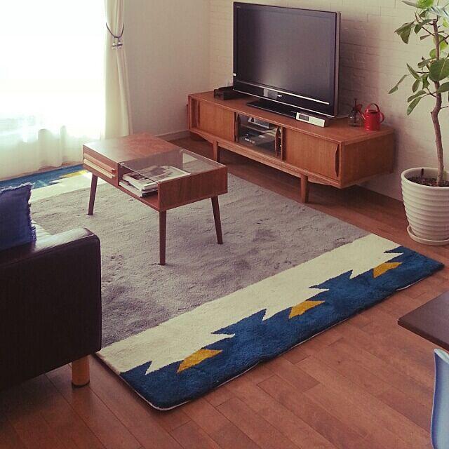 無垢床材,unico,観葉植物,北欧,ラグ,Lounge cherryの部屋