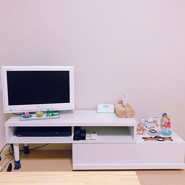 Lounge,テレビ台,2人暮らし,ニトリ,ホワイトインテリア roniの部屋