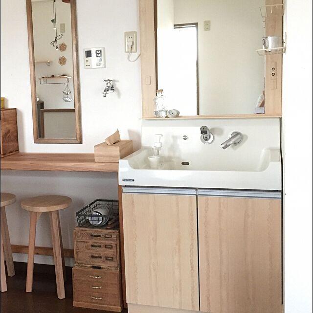 Bathroom,洗面台,リメイクシート木目調,セリア,洗面台リメイク,シンプル,ミニマム zuiiの部屋