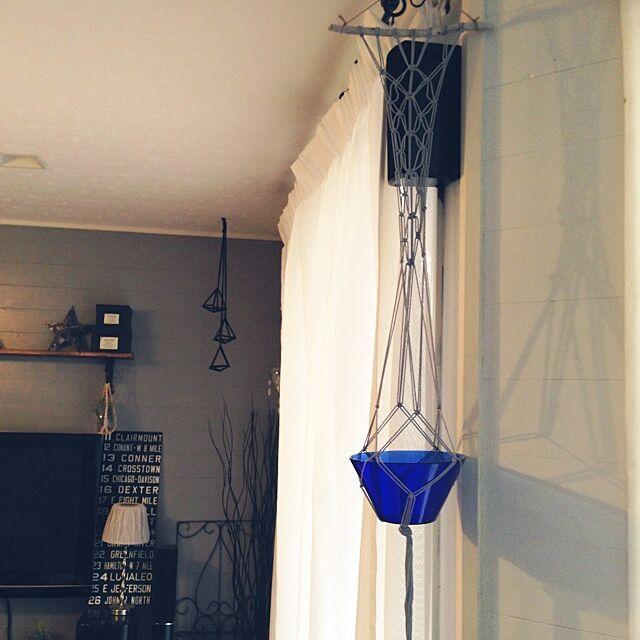 On Walls,茨城県なめんなよタグ,ぶらぶら病棟,ハンギング,プラントハンガー,流木,マクラメ編み,ガラス中毒,ブルーのガラス sunmoonの部屋